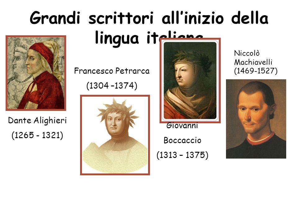 Grandi scrittori all'inizio della lingua italiana