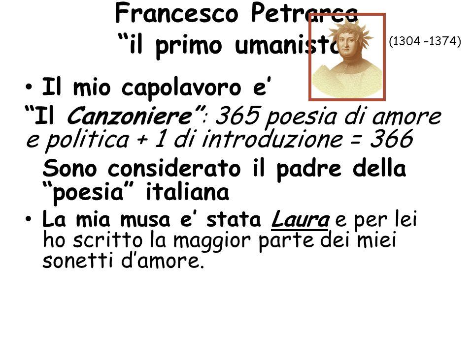 Francesco Petrarca il primo umanista