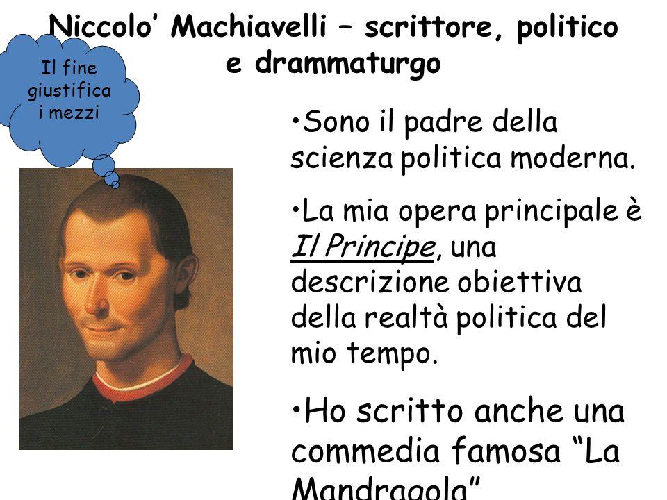 Niccolo' Machiavelli – scrittore, politico e drammaturgo