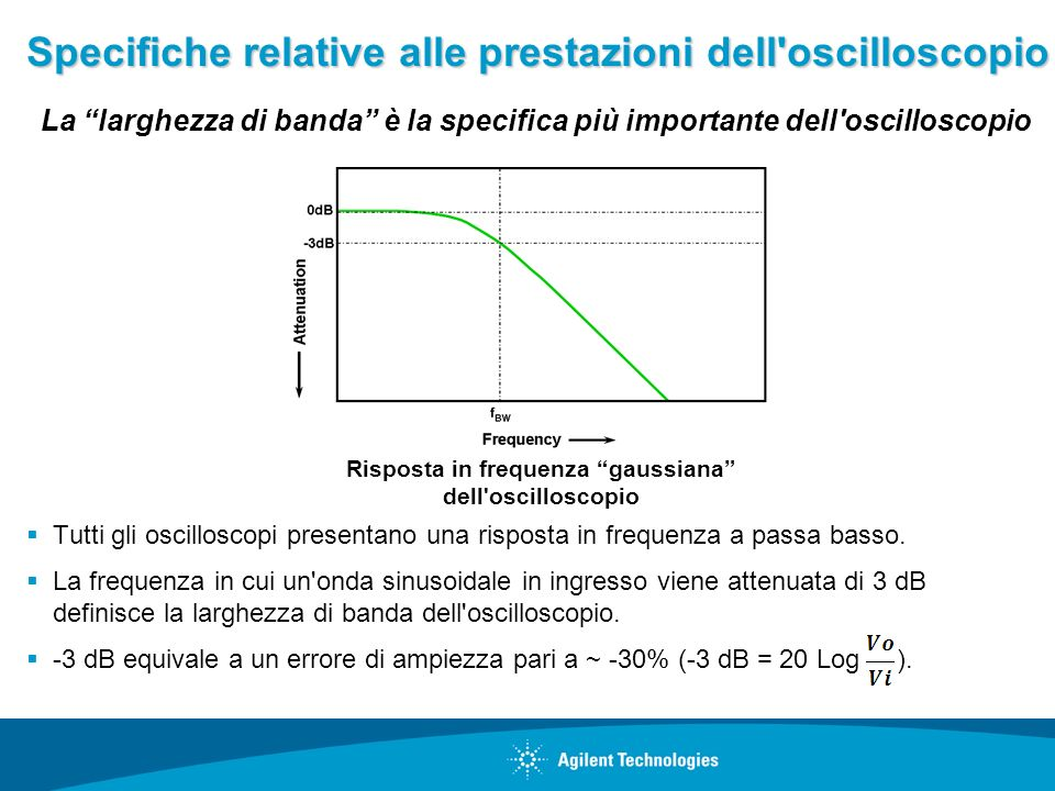 Specifiche relative alle prestazioni dell oscilloscopio