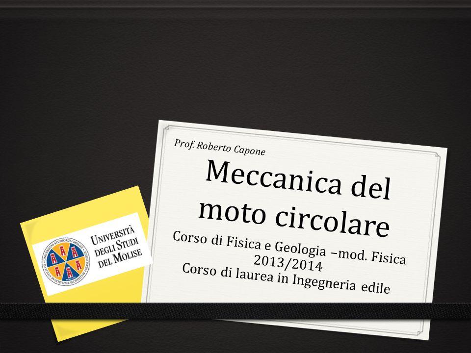 Meccanica del moto circolare