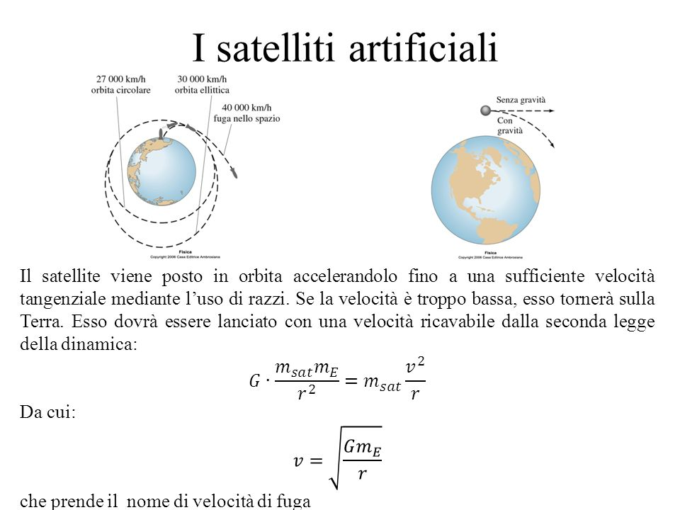 I satelliti artificiali