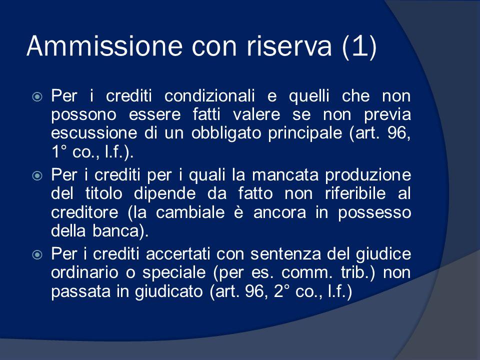 Ammissione con riserva (1)