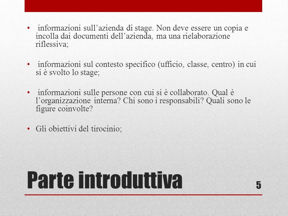 informazioni sull'azienda di stage