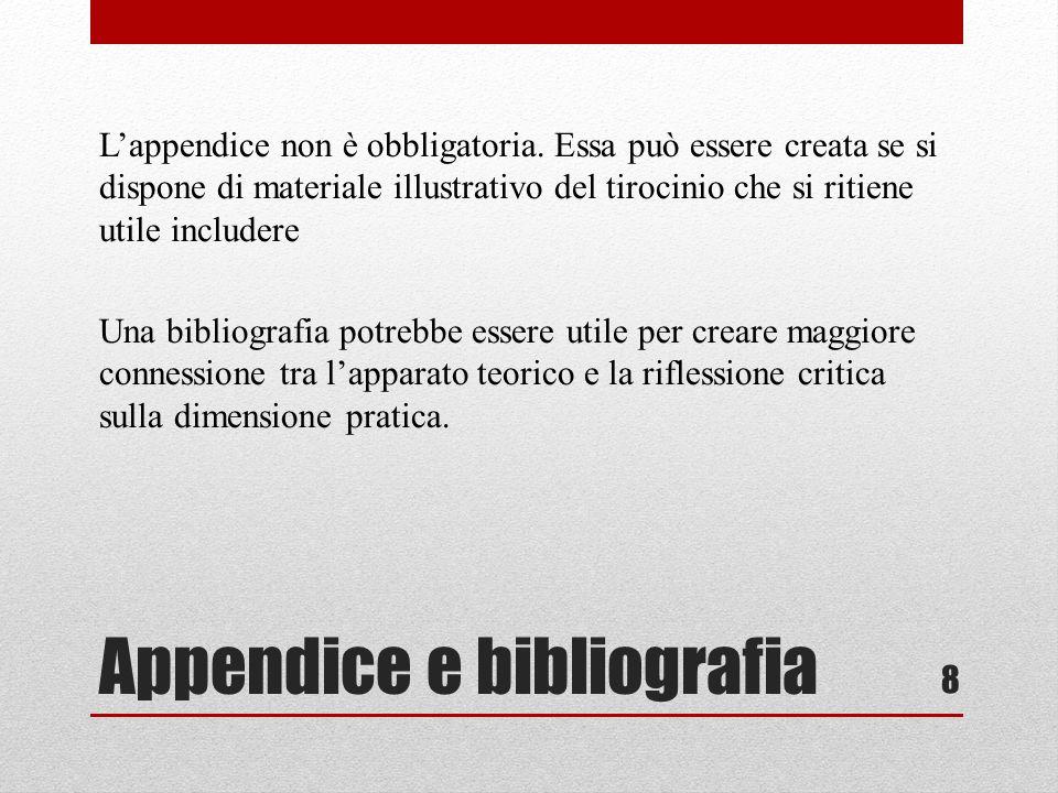 Appendice e bibliografia