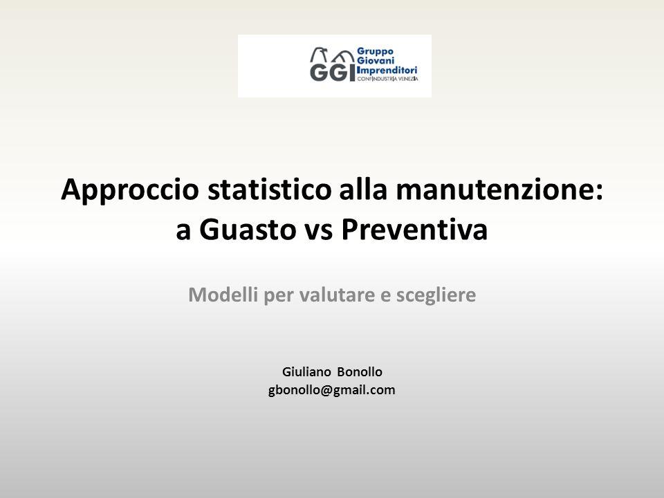 Approccio statistico alla manutenzione: a Guasto vs Preventiva