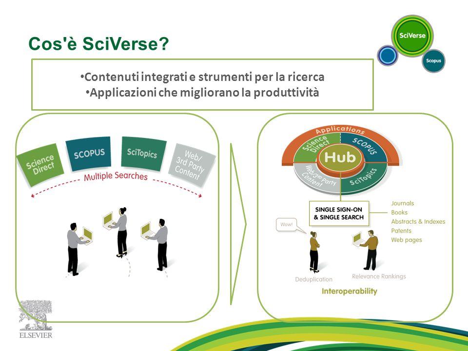 Cos è SciVerse Contenuti integrati e strumenti per la ricerca