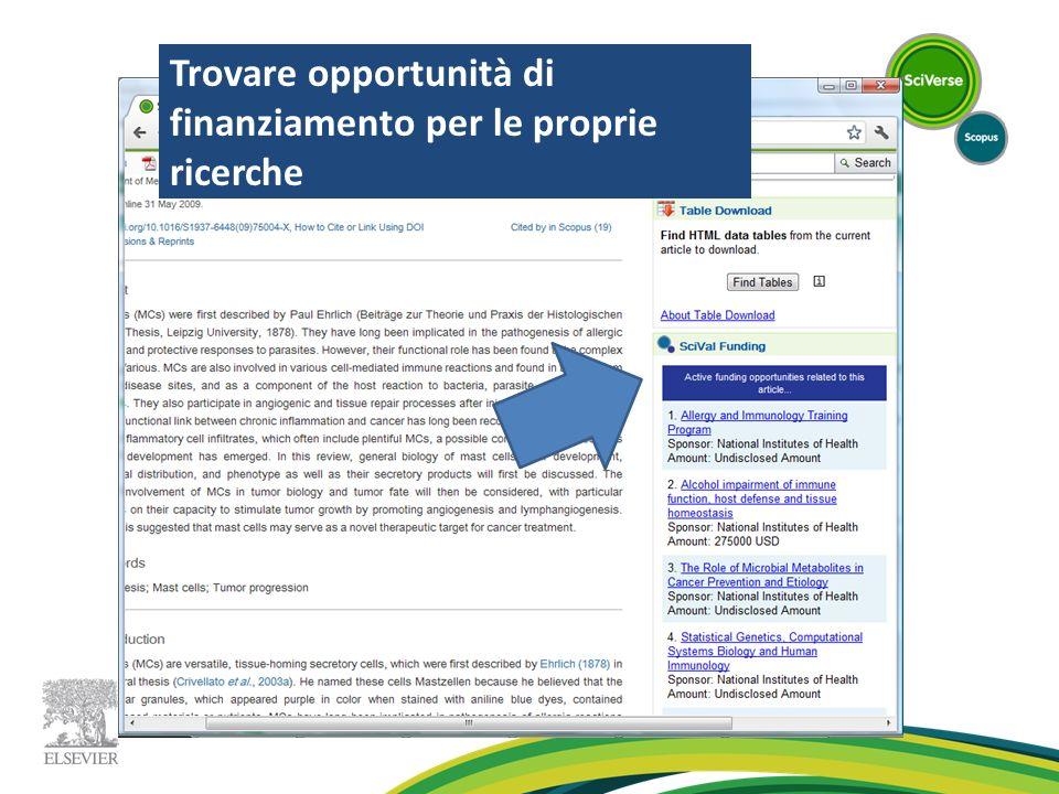 Trovare opportunità di finanziamento per le proprie ricerche