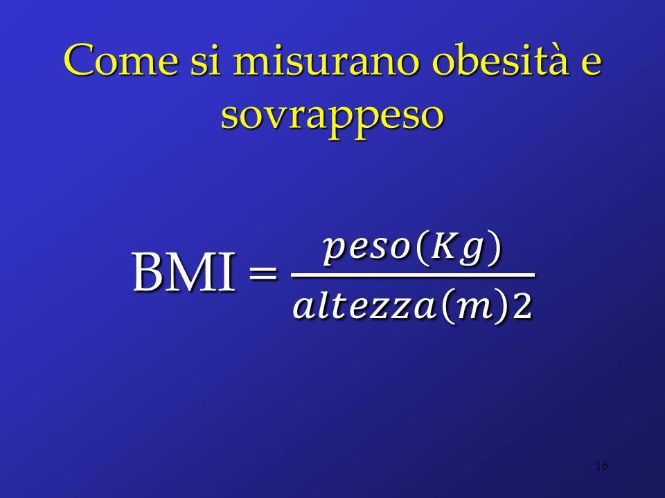 Come si misurano obesità e sovrappeso