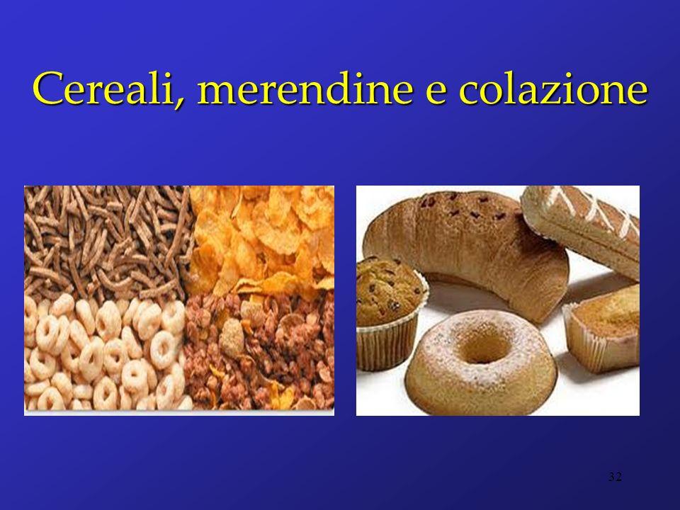 Cereali, merendine e colazione