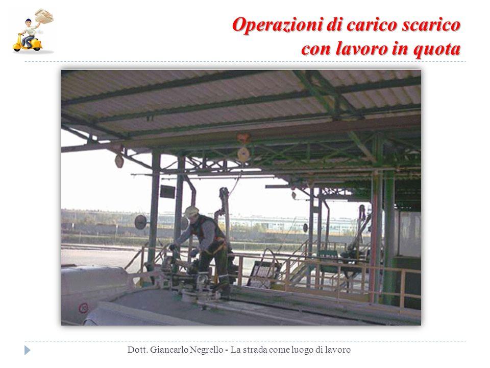 Operazioni di carico scarico con lavoro in quota