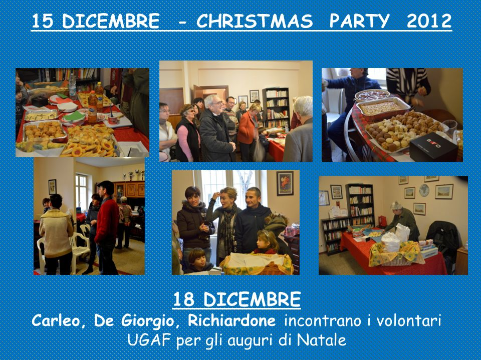 15 DICEMBRE - CHRISTMAS PARTY 2012