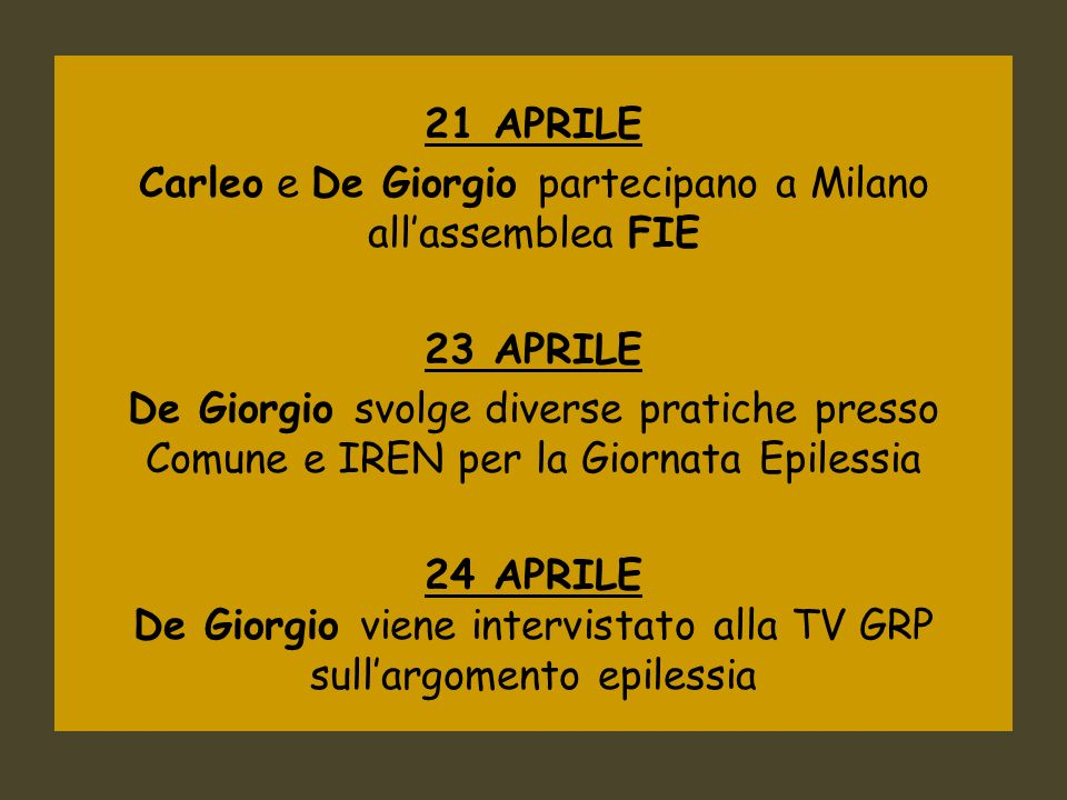 Carleo e De Giorgio partecipano a Milano all'assemblea FIE