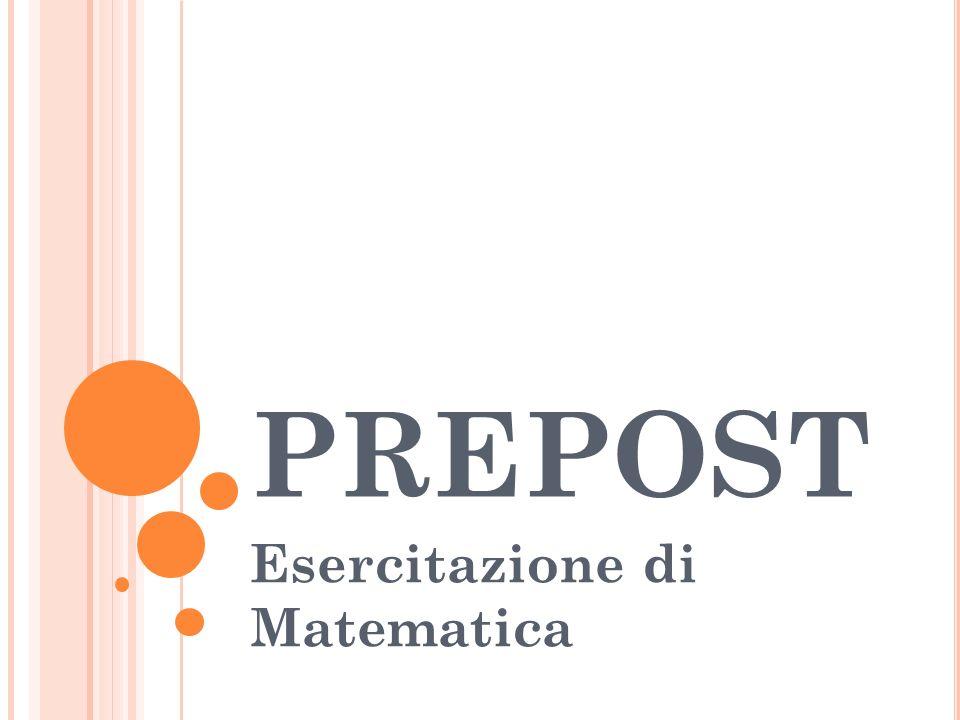 Esercitazione di Matematica