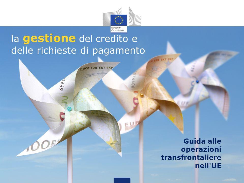 la gestione del credito e delle richieste di pagamento