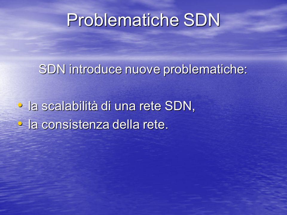 Problematiche SDN SDN introduce nuove problematiche: