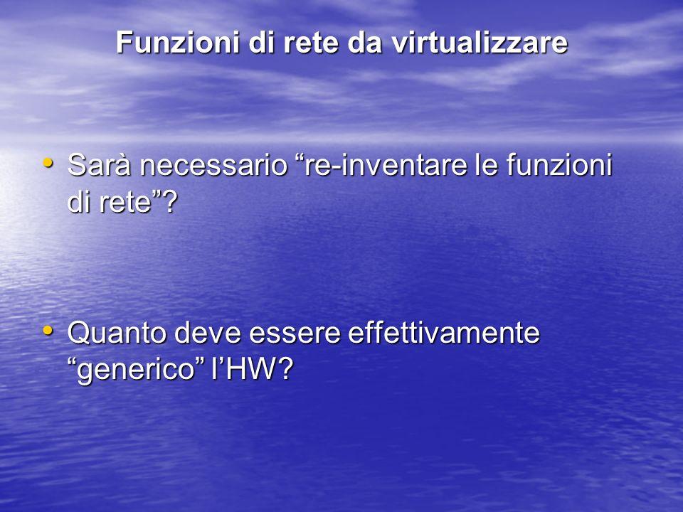 Funzioni di rete da virtualizzare