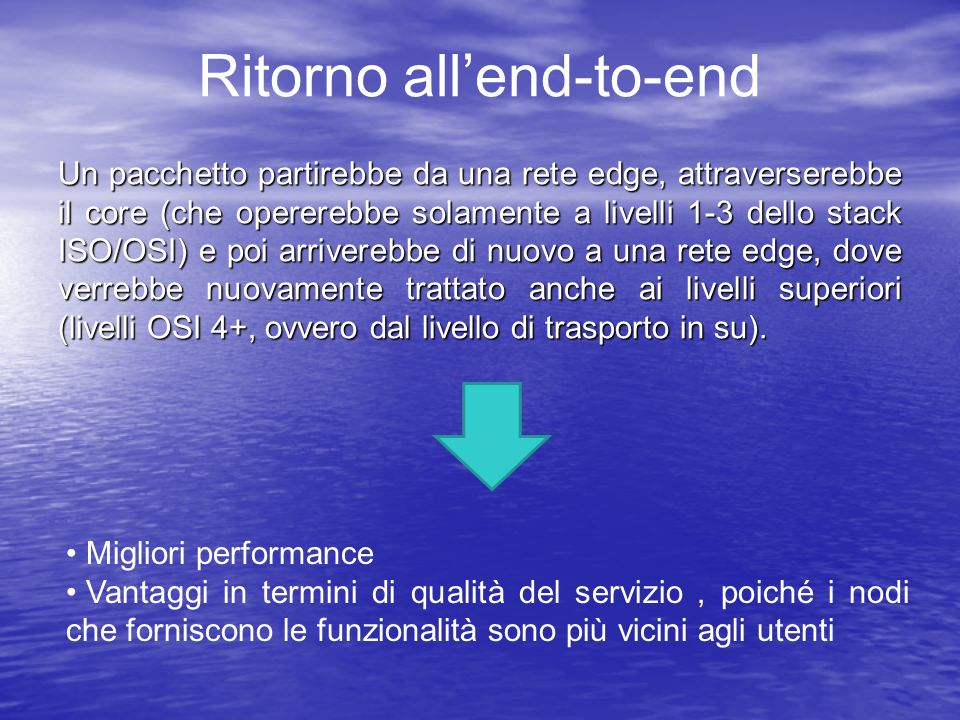 Ritorno all'end-to-end