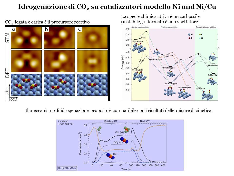 Idrogenazione di CO2 su catalizzatori modello Ni and Ni/Cu
