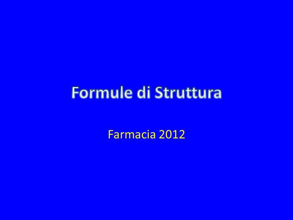 Formule di Struttura Farmacia 2012