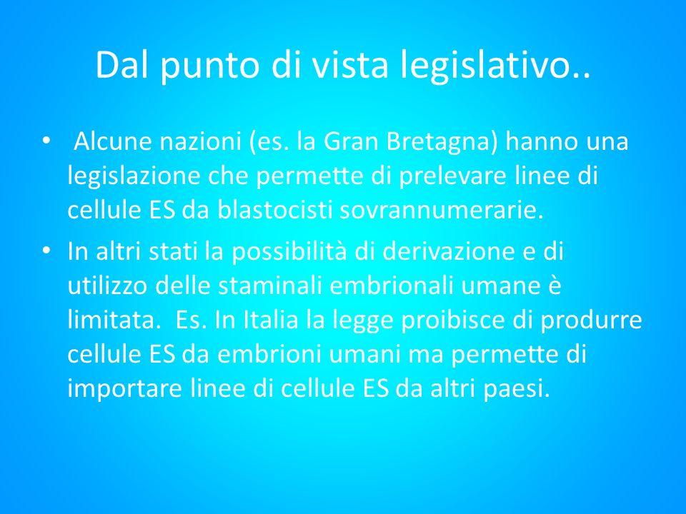 Dal punto di vista legislativo..
