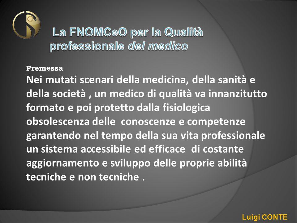 La FNOMCeO per la Qualità professionale del medico