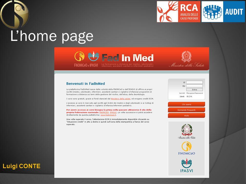 L'home page Luigi CONTE