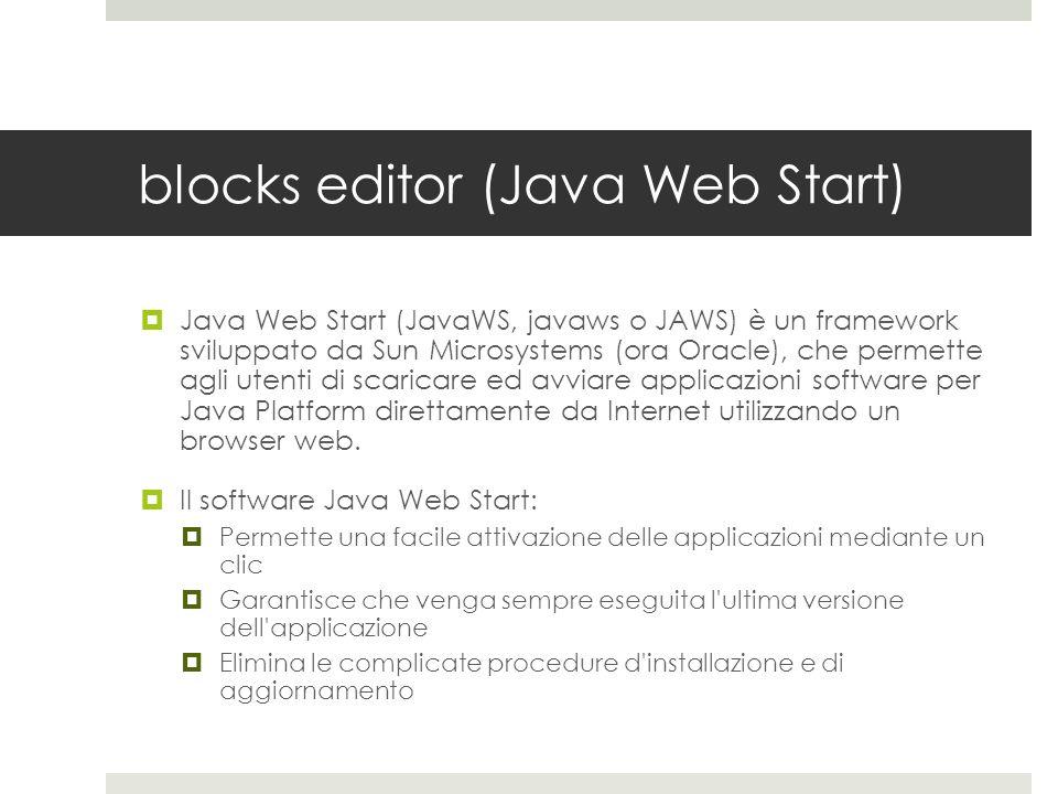 blocks editor (Java Web Start)