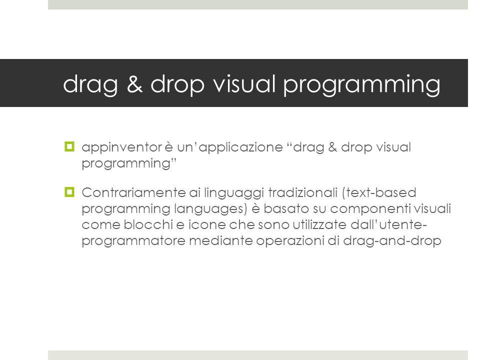 drag & drop visual programming