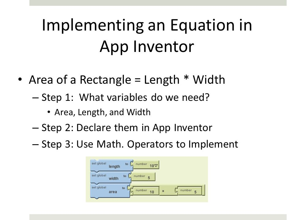 Implementing an Equation in App Inventor