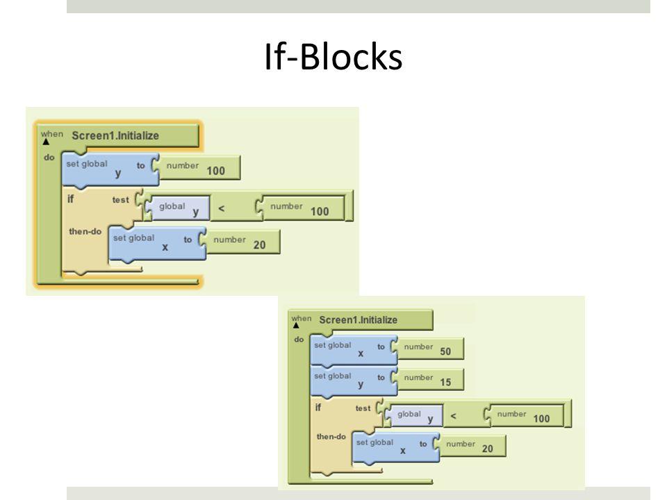 If-Blocks