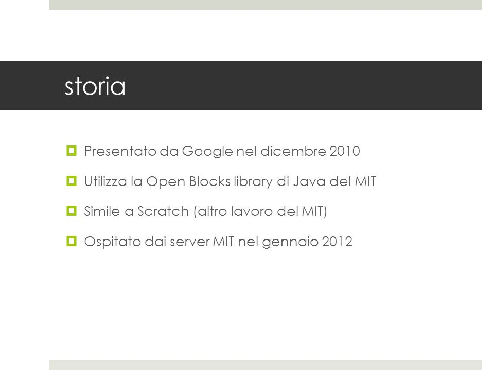 storia Presentato da Google nel dicembre 2010