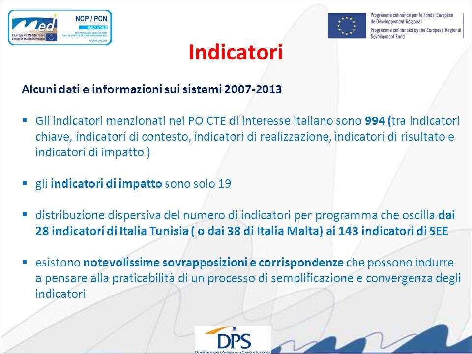 Indicatori Alcuni dati e informazioni sui sistemi 2007-2013