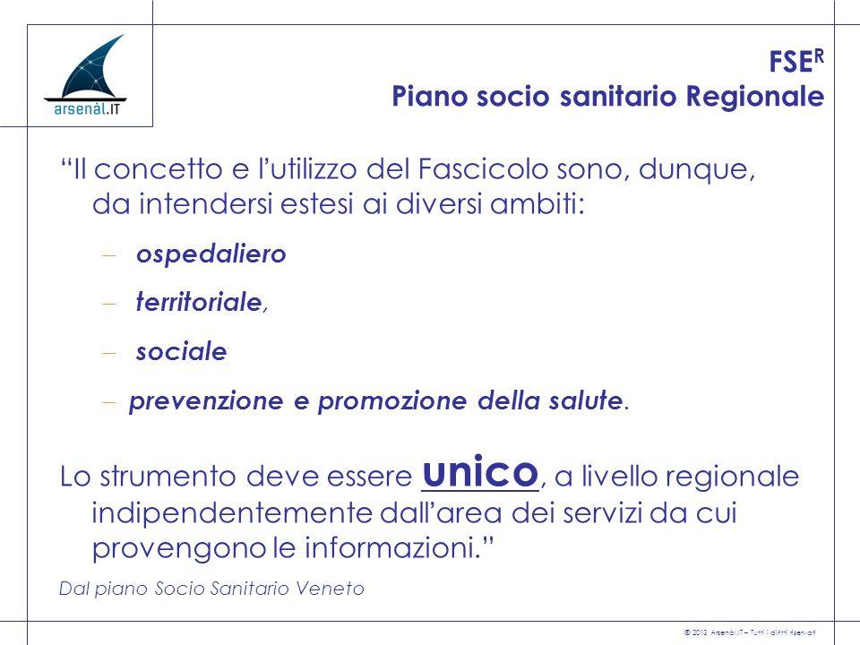 FSER Piano socio sanitario Regionale