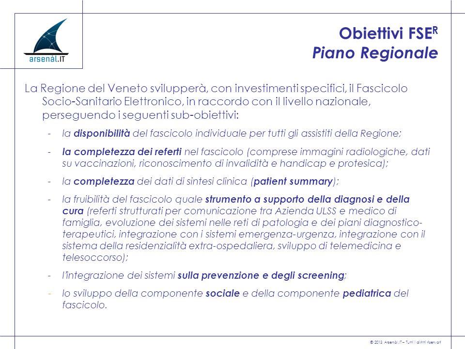 Obiettivi FSER Piano Regionale