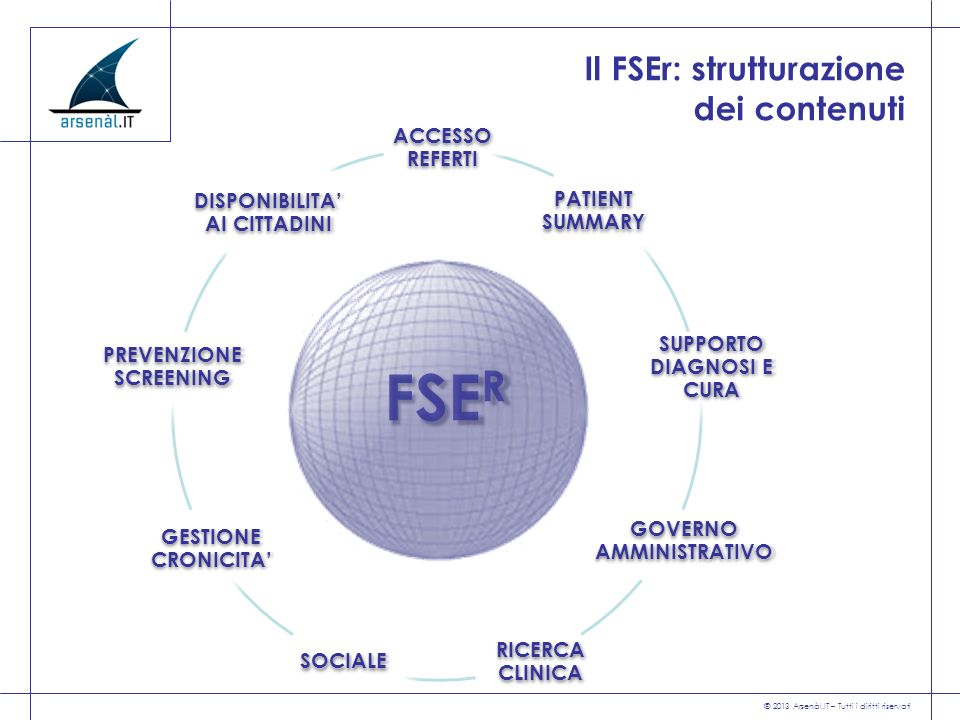 Il FSEr: strutturazione dei contenuti