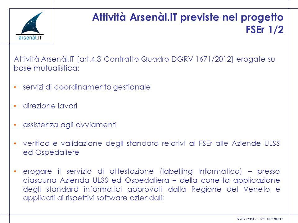 Attività Arsenàl.IT previste nel progetto FSEr 1/2