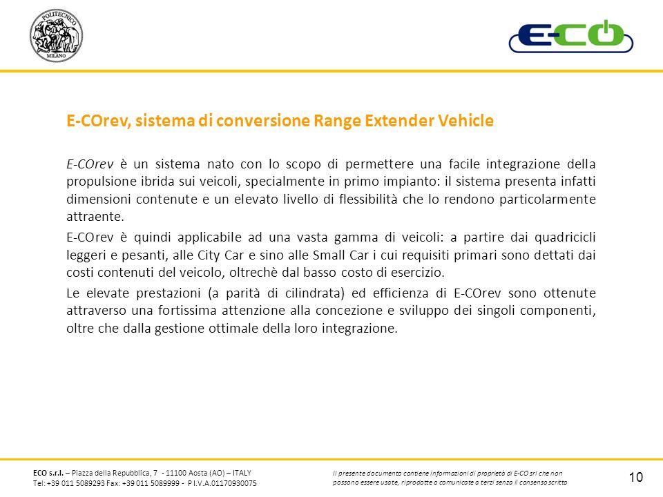 E-COrev, sistema di conversione Range Extender Vehicle