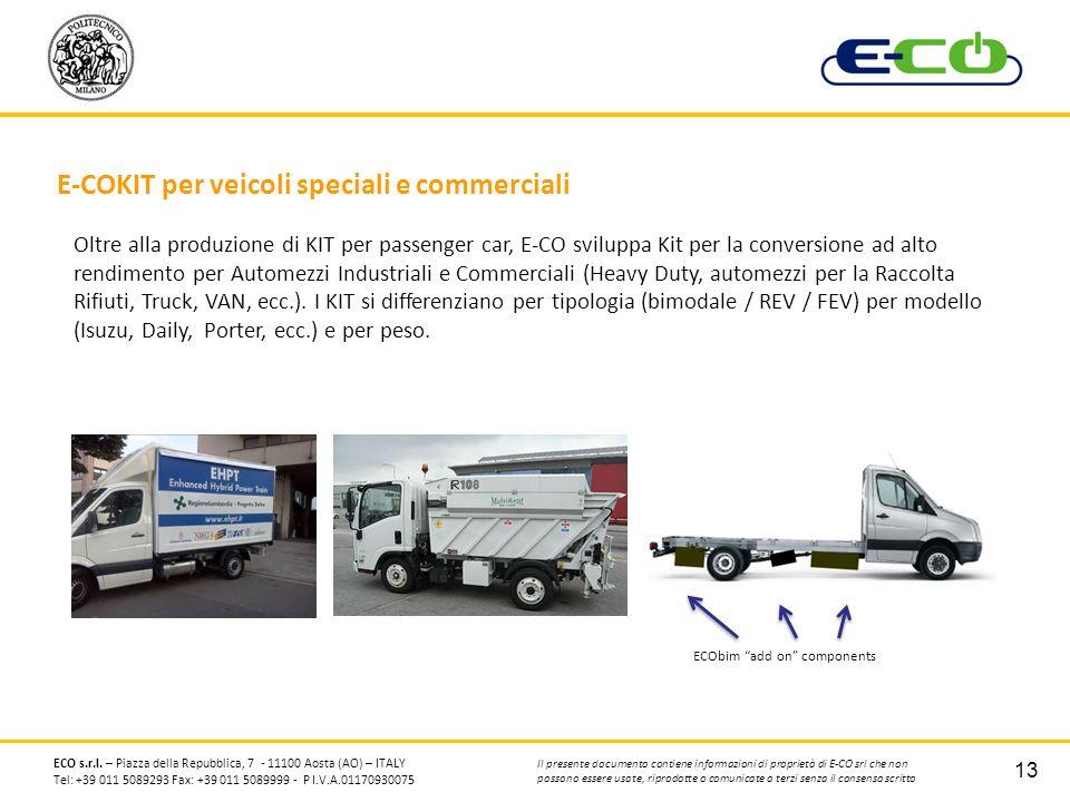 E-COKIT per veicoli speciali e commerciali