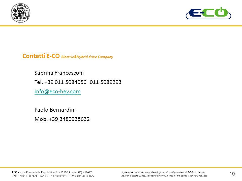 Contatti E-CO Electric&Hybrid drive Company