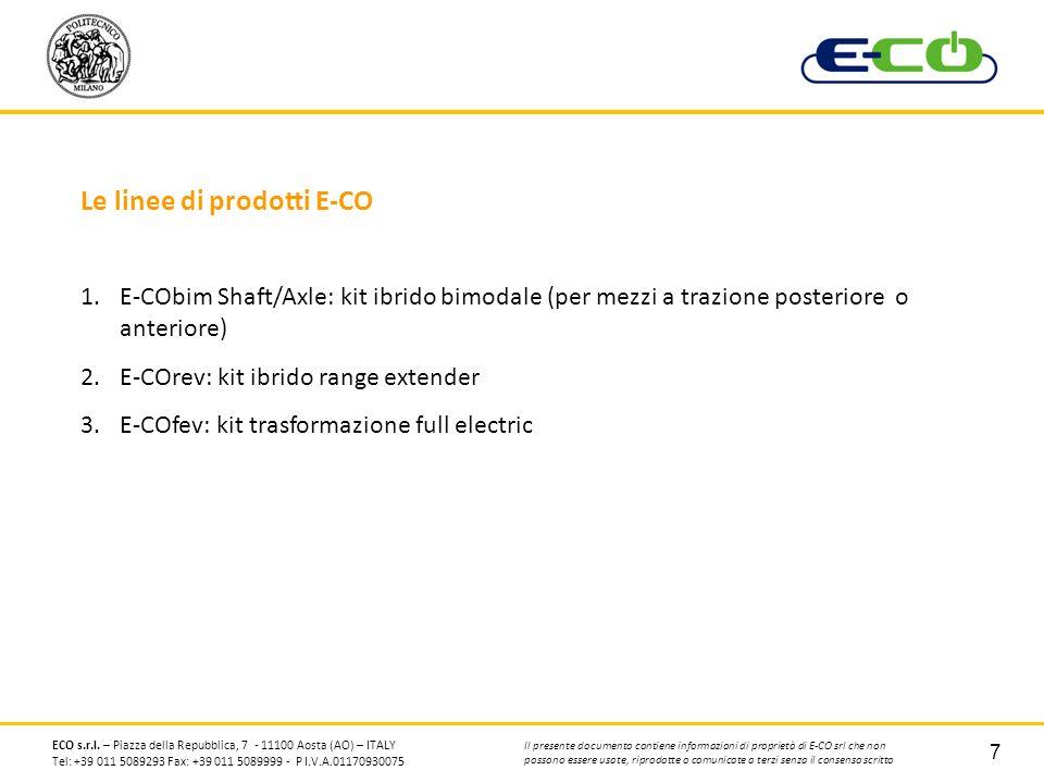 Le linee di prodotti E-CO
