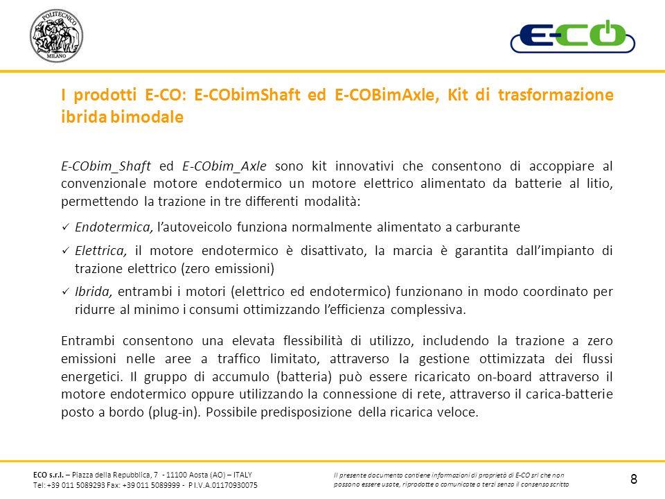 I prodotti E-CO: E-CObimShaft ed E-COBimAxle, Kit di trasformazione ibrida bimodale