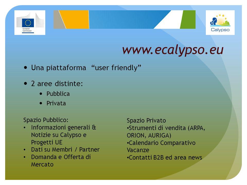 www.ecalypso.eu Una piattaforma user friendly 2 aree distinte: