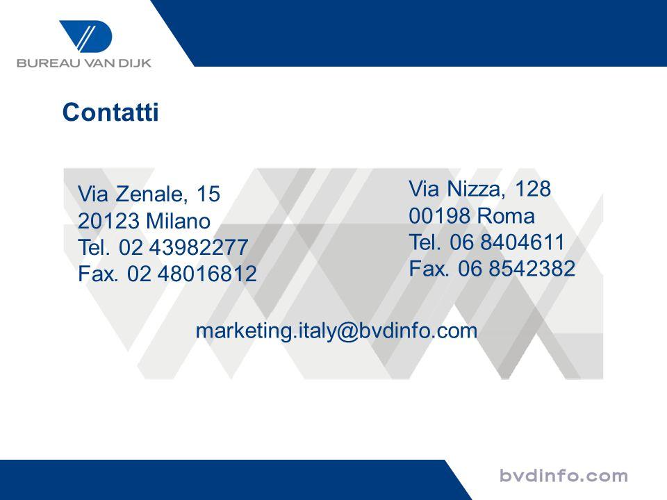 Contatti Via Nizza, 128 Via Zenale, 15 00198 Roma 20123 Milano