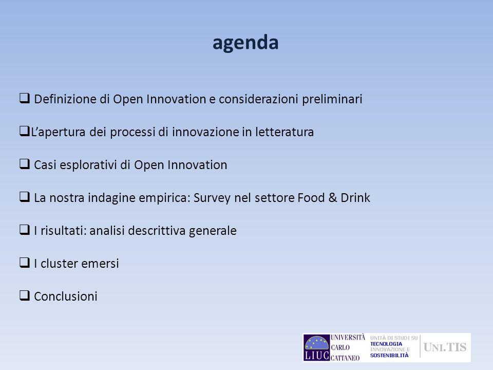agenda Definizione di Open Innovation e considerazioni preliminari