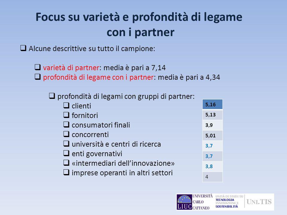 Focus su varietà e profondità di legame con i partner
