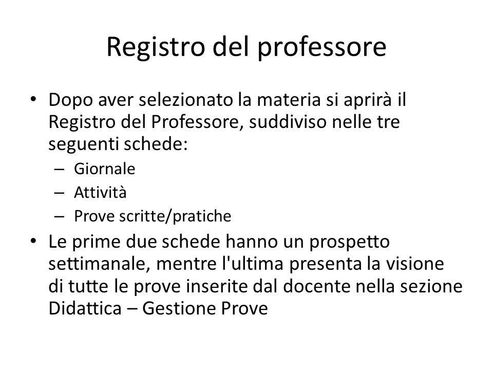 Registro del professore