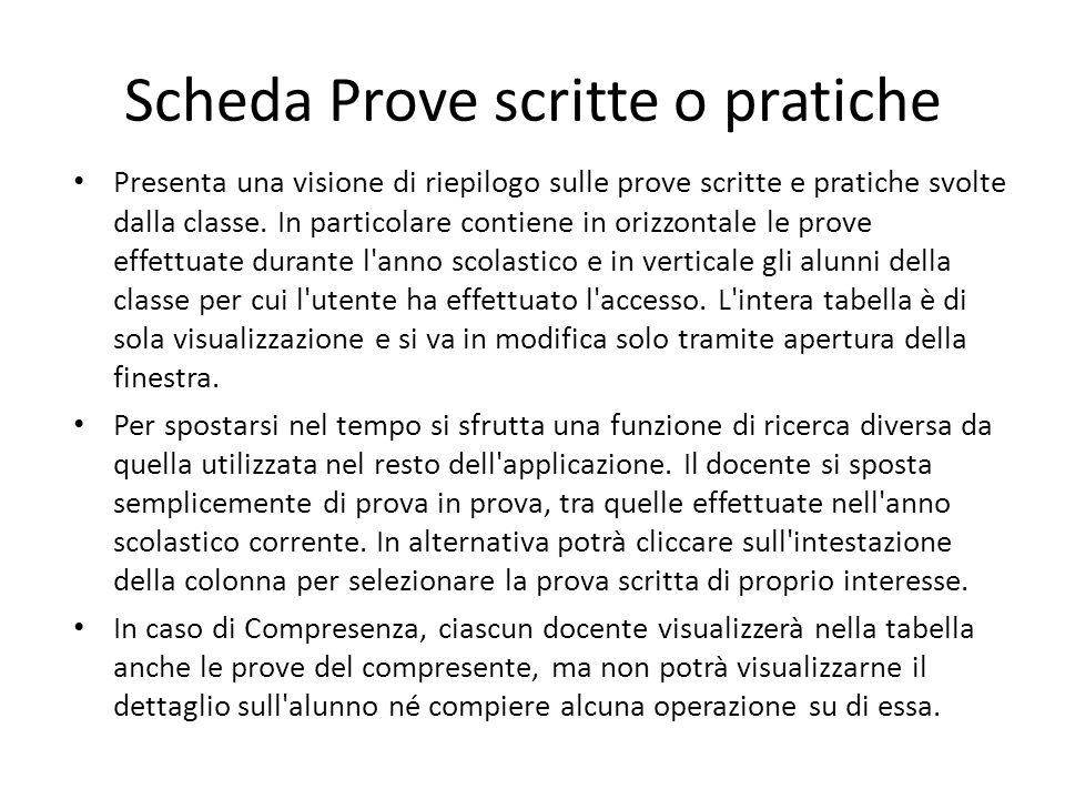 Scheda Prove scritte o pratiche