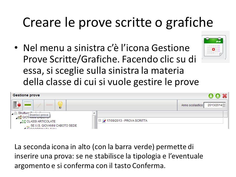 Creare le prove scritte o grafiche