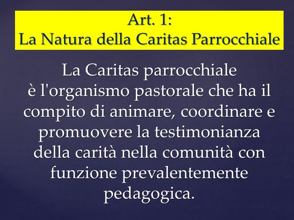 La Natura della Caritas Parrocchiale